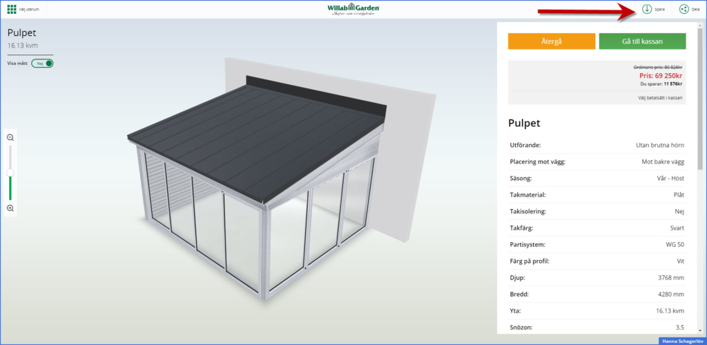 Bygge hagestue i 3D