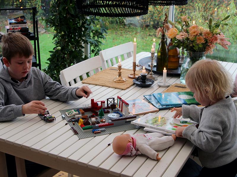 Høstferiekos i hagestuen med barna