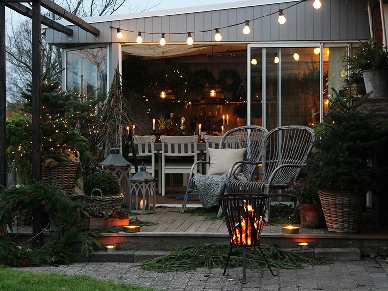 Nå er det vinter på verandaen min